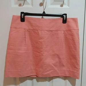 J. Crew Peach Textured Miniskirt Sz 12